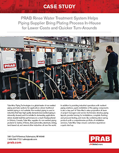 Peregrine Metal Finishing - Case Study - PRAB Rinse Water Treatment System
